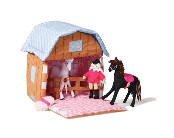 Stall med hästar