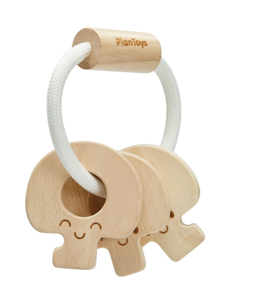 Baby key rattle natural
