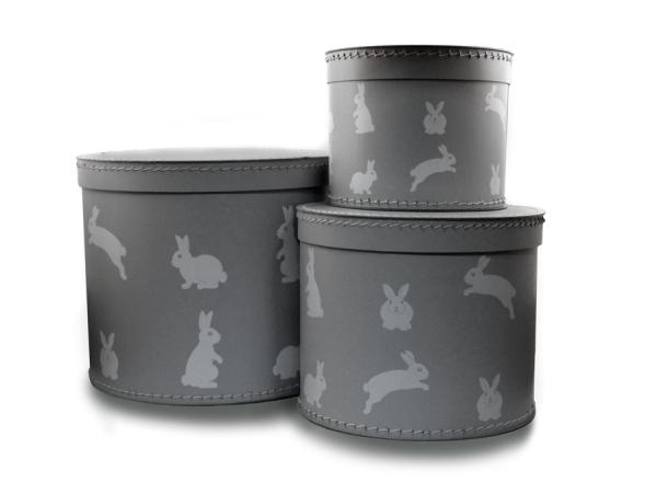 Boxset Grå med kaniner