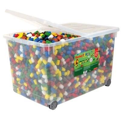 Plastbox med 6000 bitar