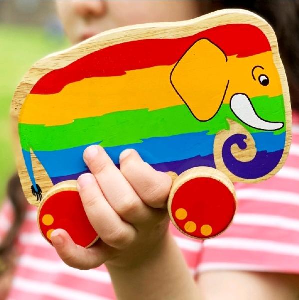 Elefant Regnbåge på hjul