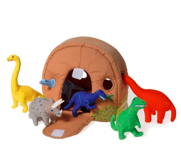 Dinosauriebo med sex dinosaurier